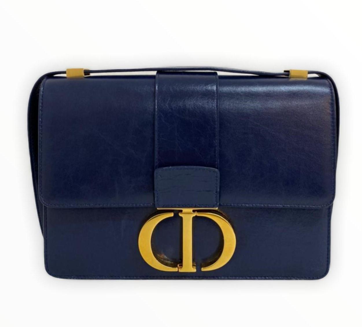 Bolsa Dior 30 Montaigne Azul Marinho