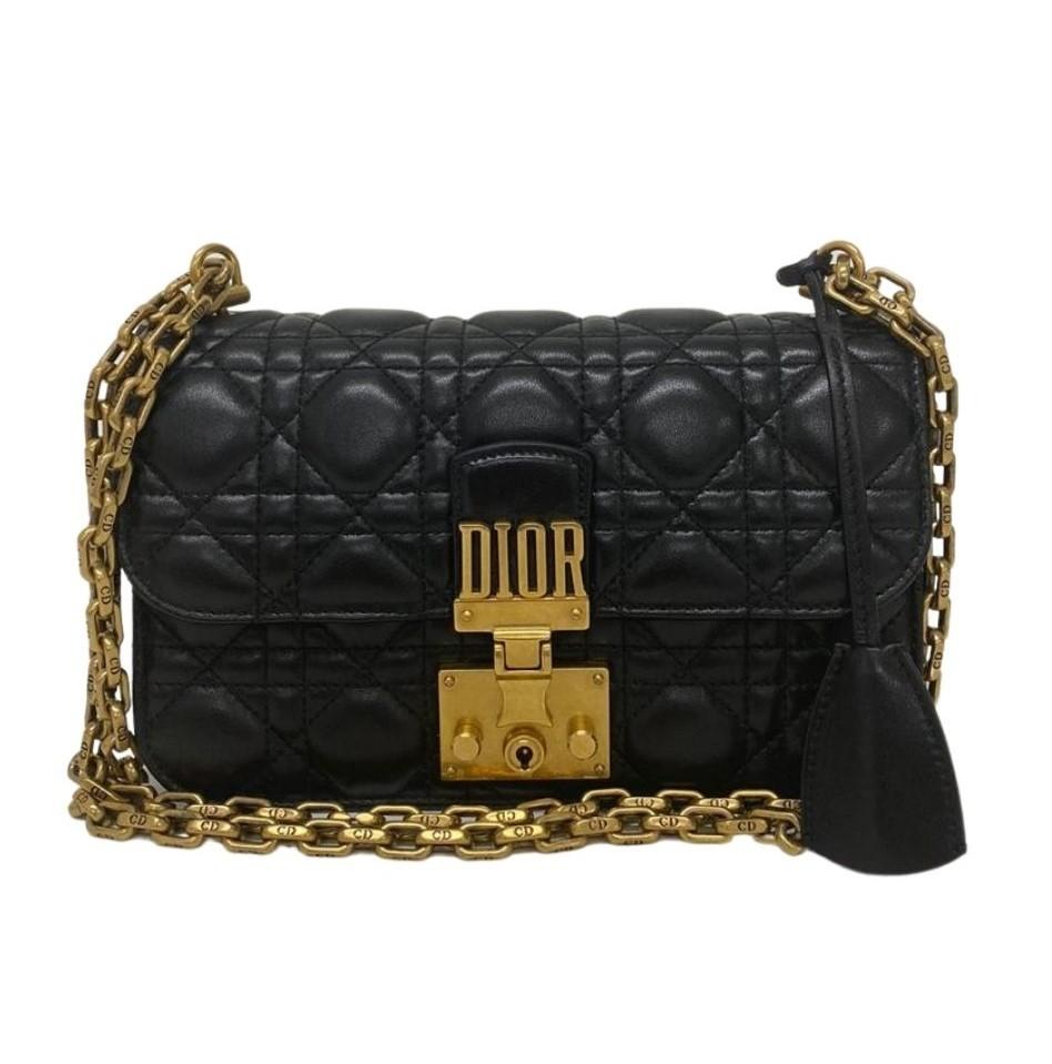Bolsa Dior Dioraddict Quilted Flap Bag Preta