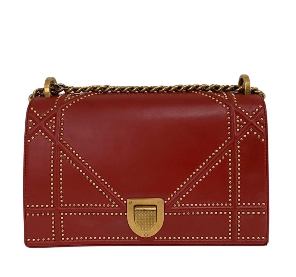 Bolsa Dior Diorama Vermelha