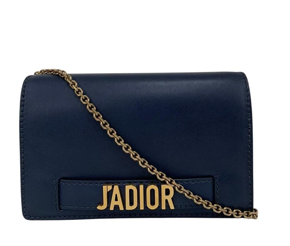 Bolsa Dior J'adior Croisiere Wallet Chain Azul