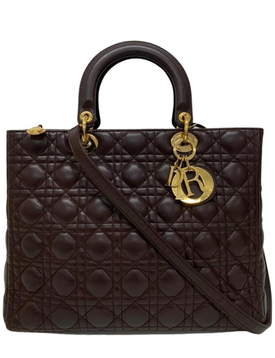Bolsa Dior 'Lady Dior' Cannage Quilted