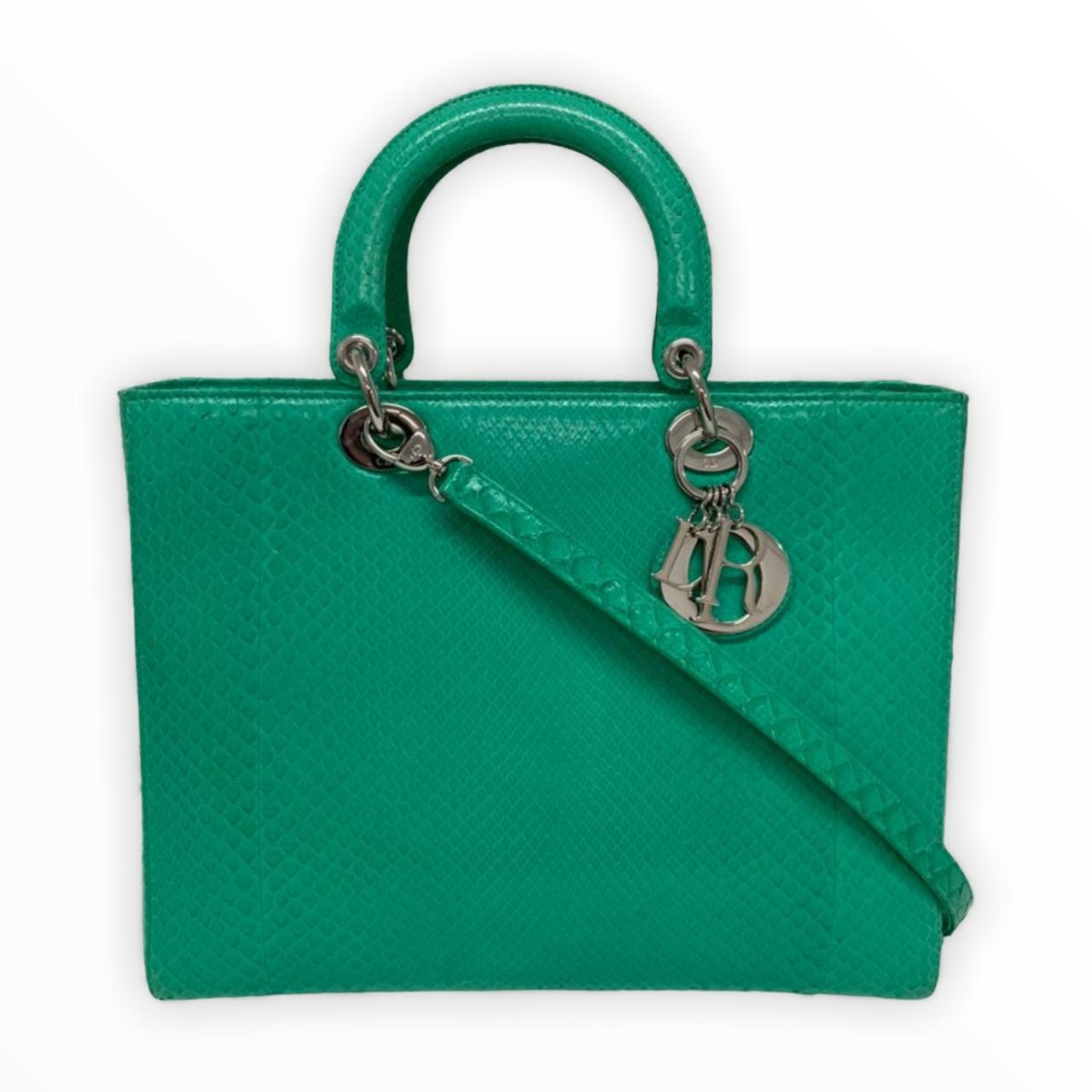 Bolsa Dior 'Lady Dior' Lizard Large