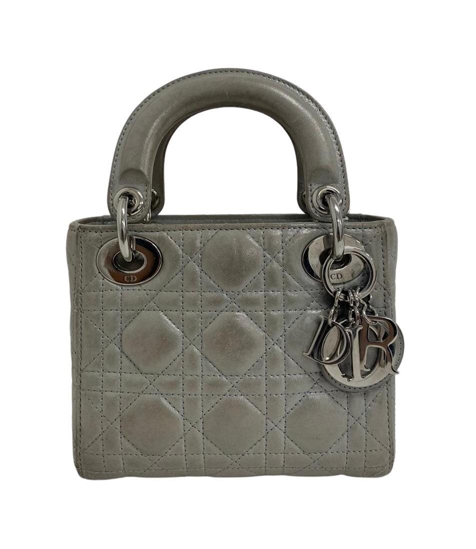 Bolsa Lady Dior Mini Prata