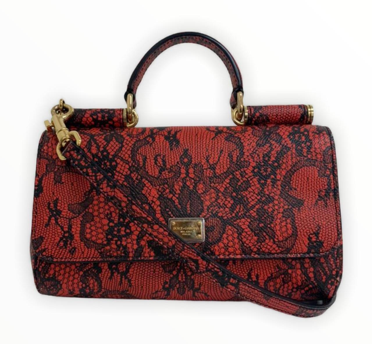 Bolsa Dolce & Gabbana Crossbody com Renda