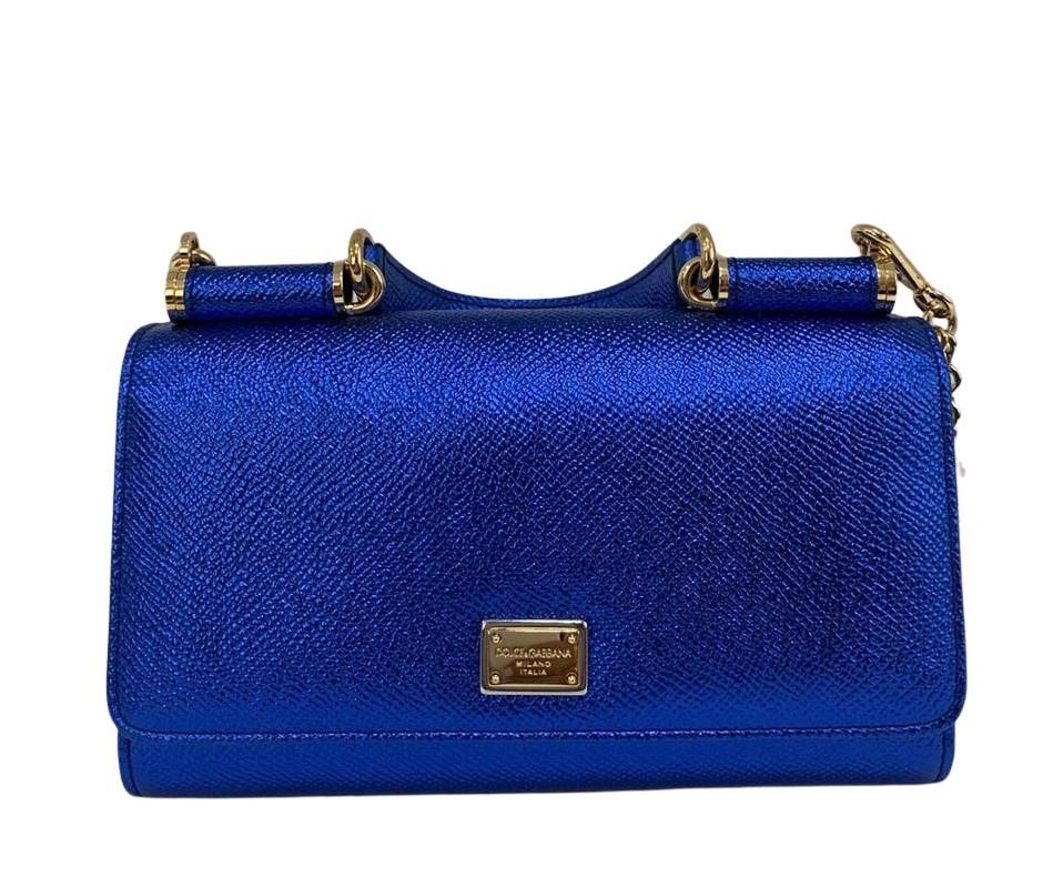 Bolsa Dolce & Gabbana Dauphine Phone Azul