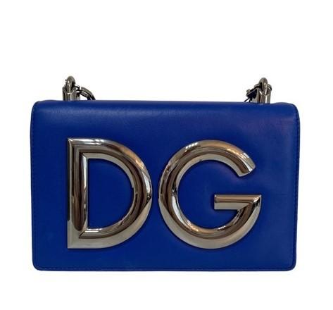Bolsa Dolce & Gabbana Logo Plaque Azul