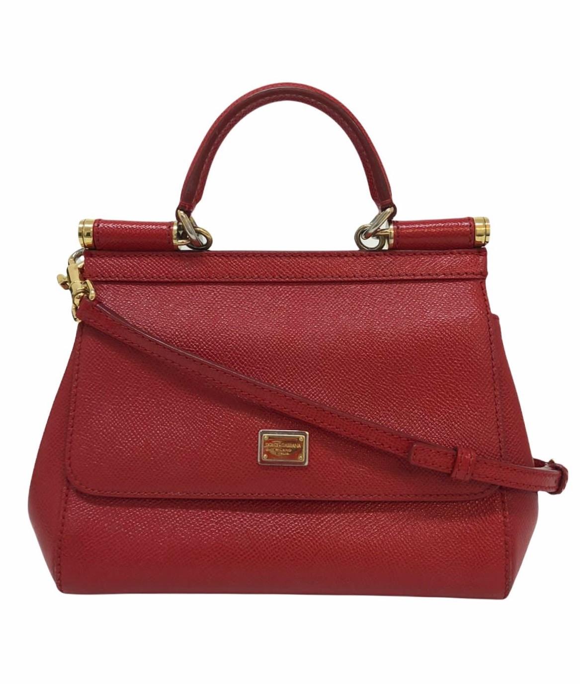 Bolsa Dolce & Gabbana Miss Sicily Small Vermelha