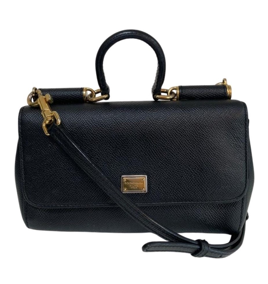 Bolsa Dolce & Gabbana Sicily Wallet Chain Preta