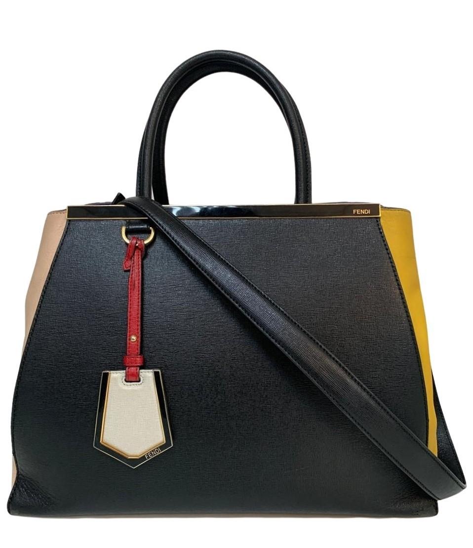 Bolsa Fendi 2Jours Colorblock Shopping