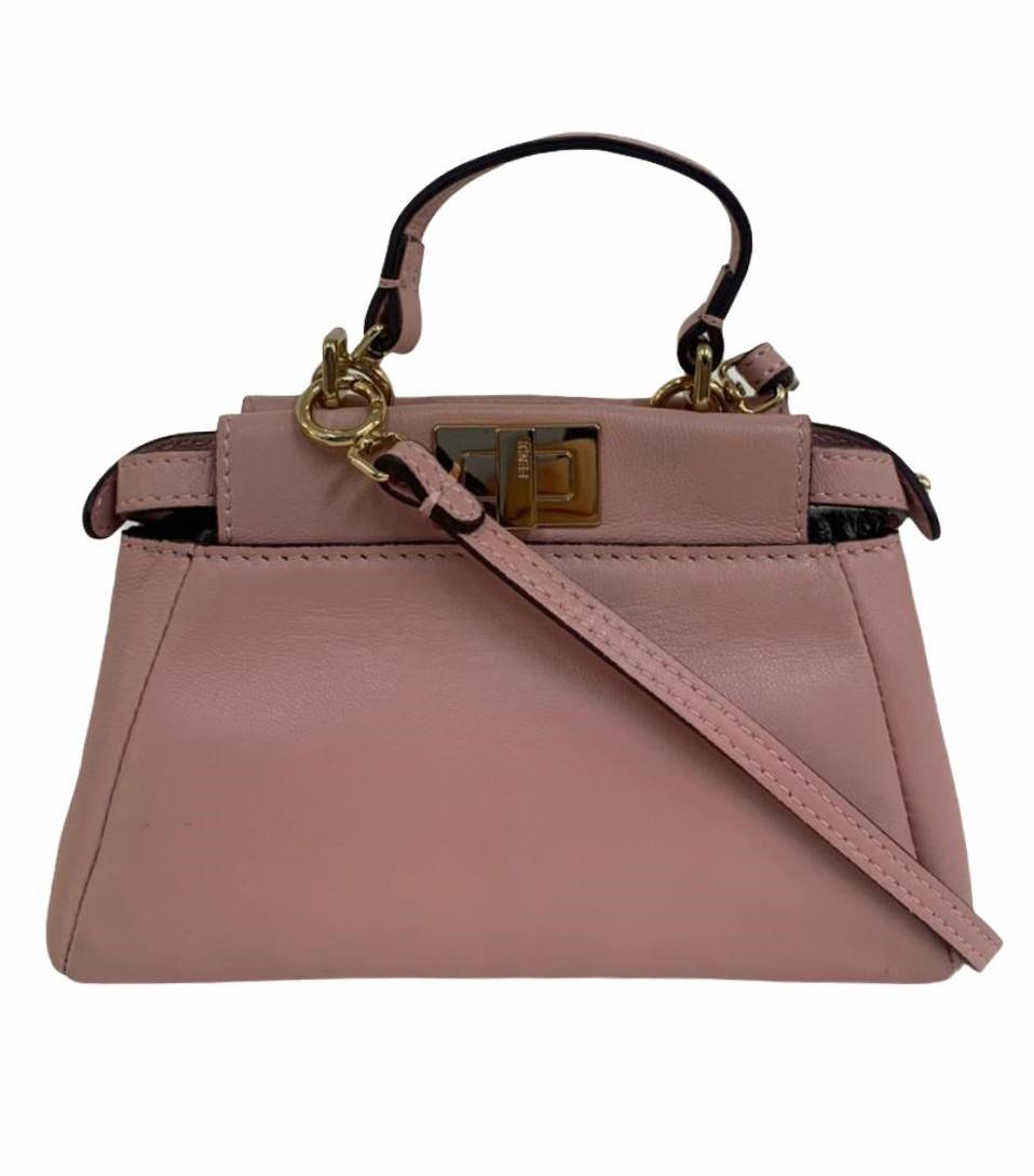Bolsa Fendi Peekaboo Micro Leather