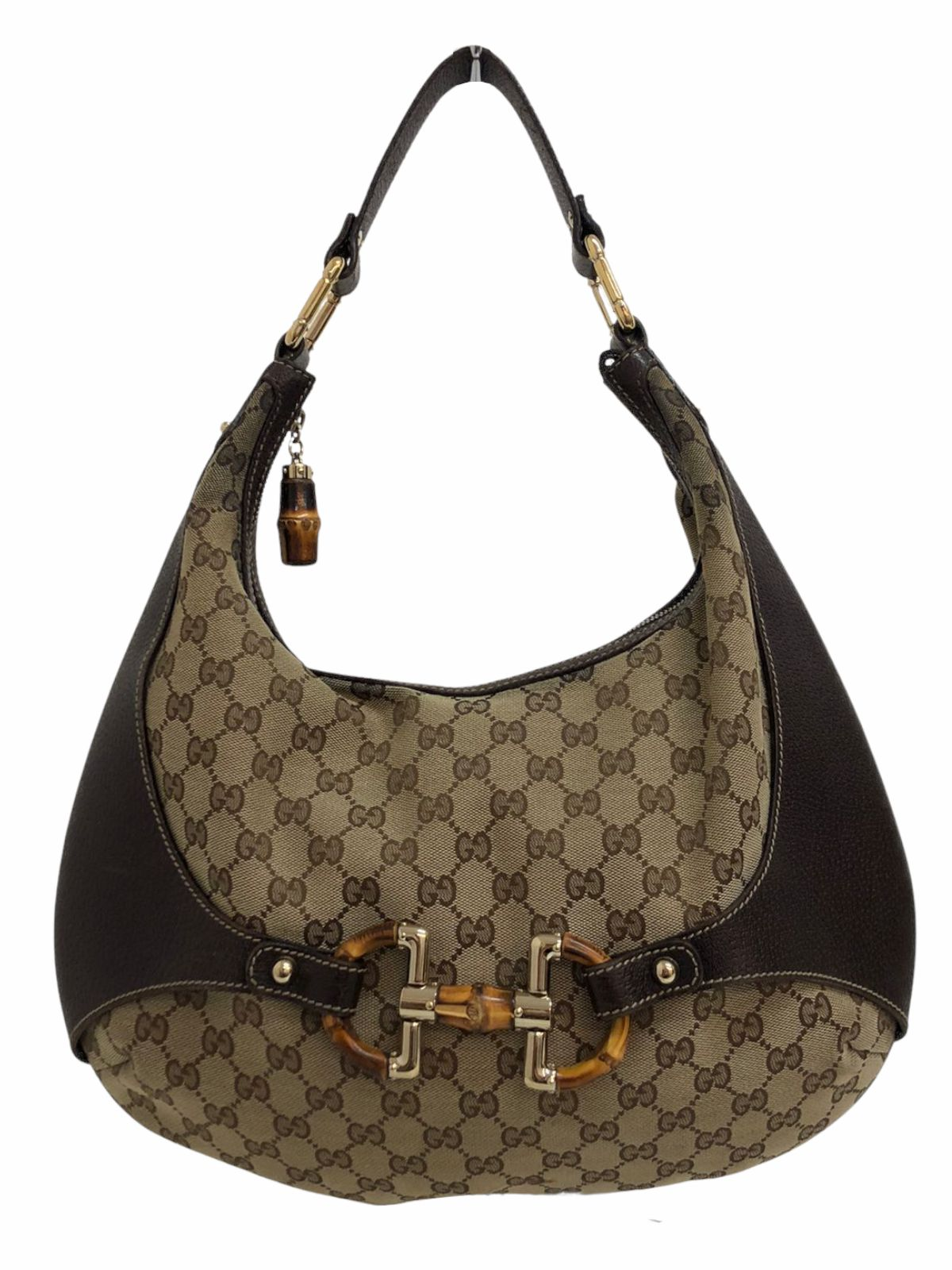 Bolsa Gucci Amalfi Hobo GG Canvas with Leather