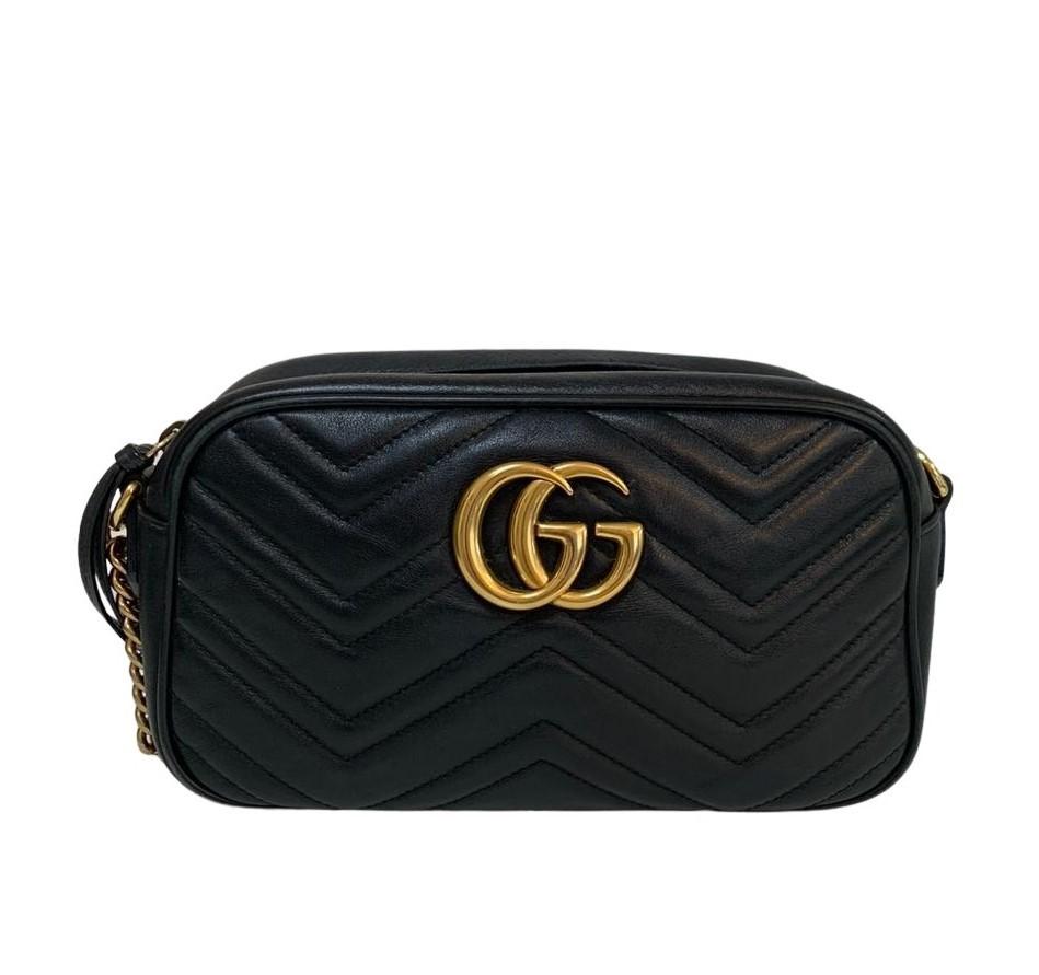Bolsa Gucci GG Marmont Camera Preta