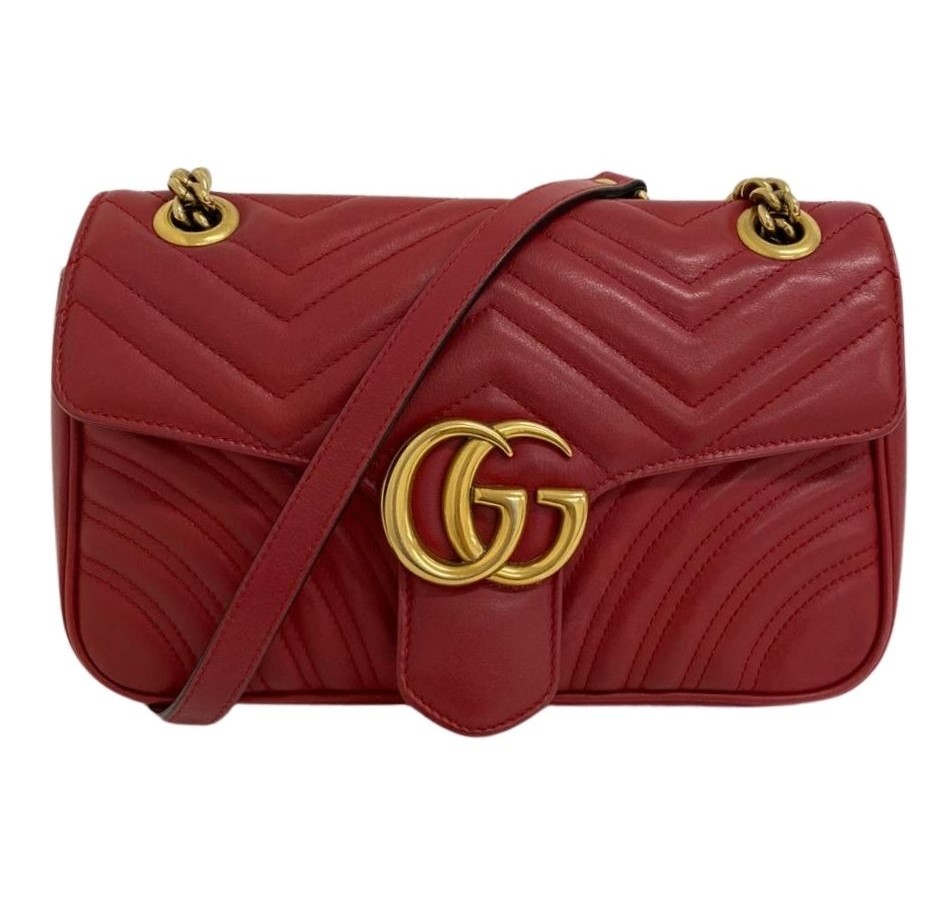 Bolsa Gucci GG Marmont Matelassé Vermelha