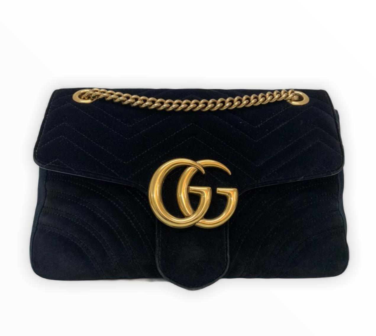 Bolsa Gucci GG Marmont Preta