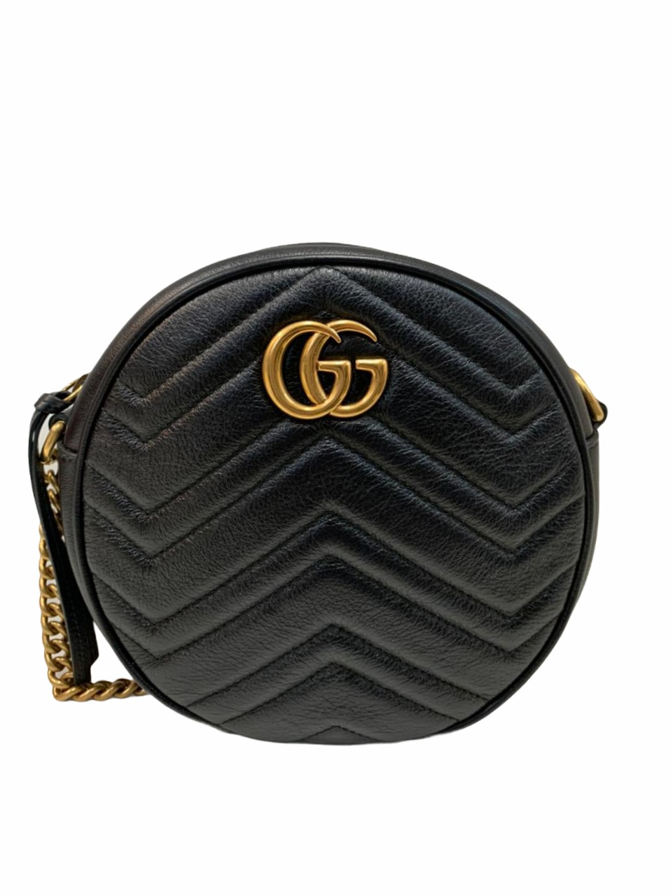 Bolsa Gucci GG Marmont Round Matelassé Preta
