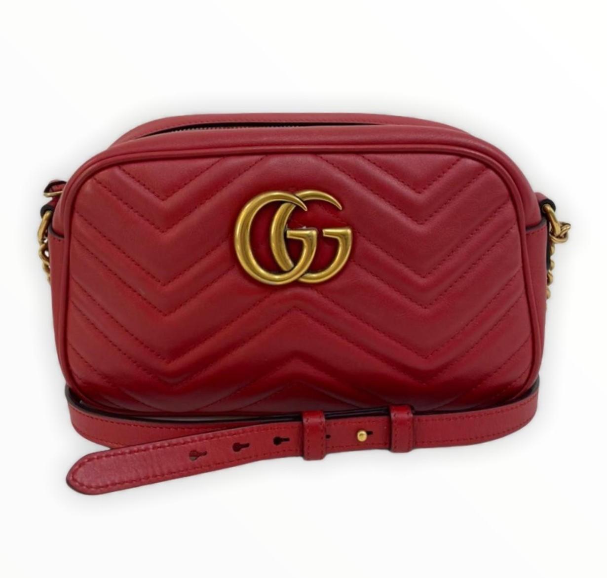 Bolsa Gucci GG Marmont Vermelha
