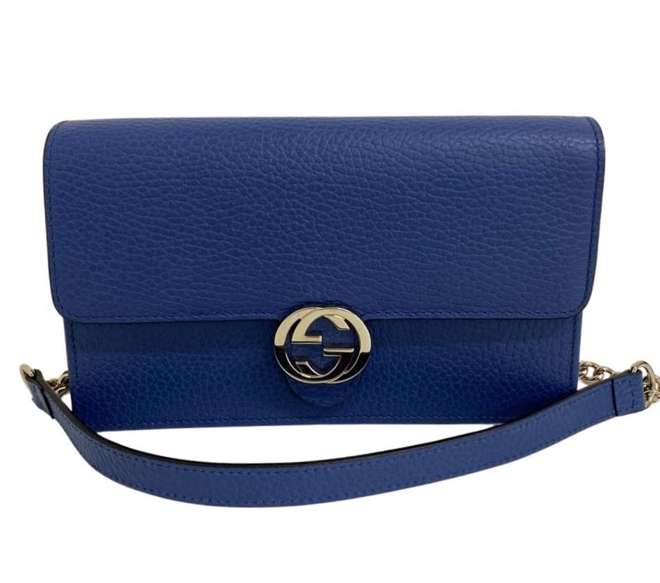 Bolsa Gucci Interlocking Azul