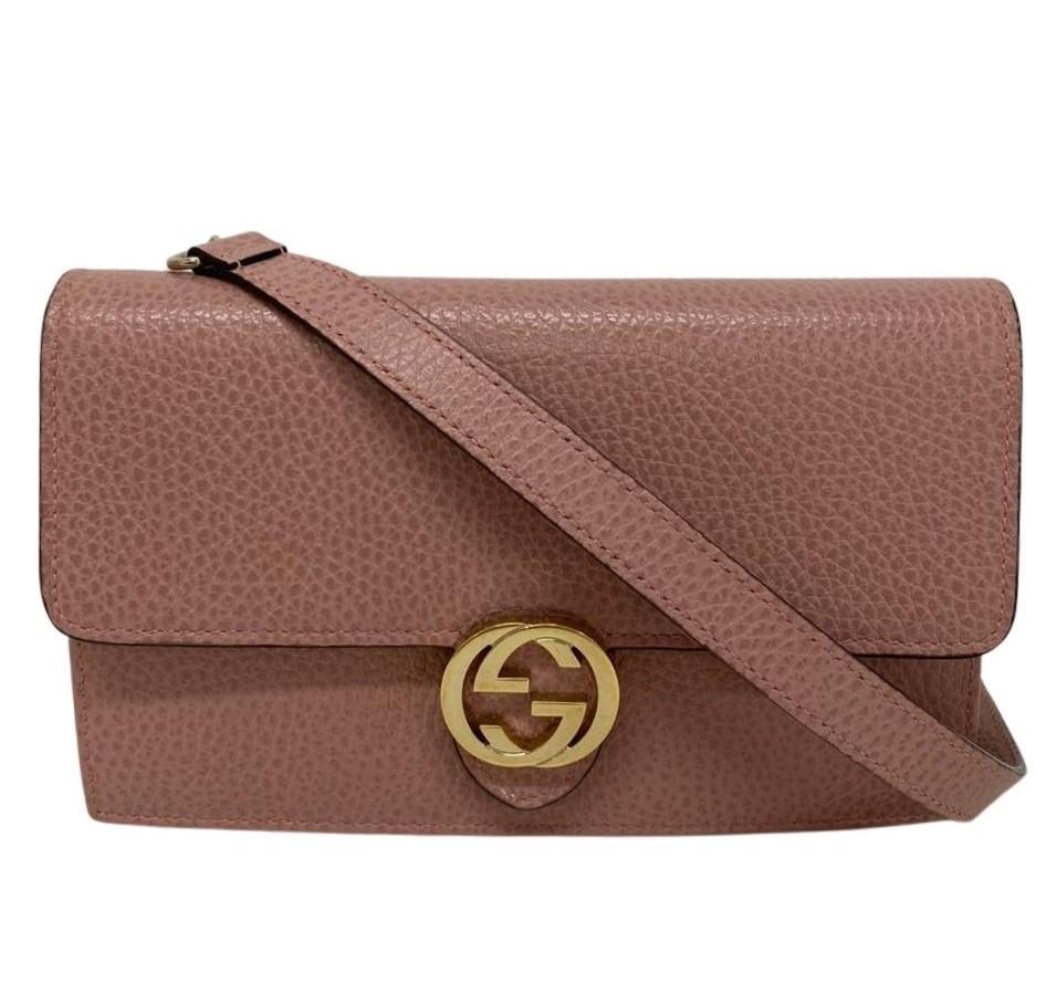 Bolsa Gucci Interlocking Rosa