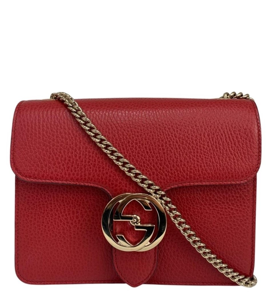 Bolsa Gucci Interlocking Vermelha