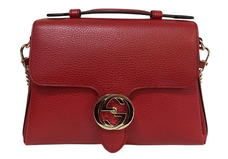 Bolsa Gucci Interlocking Vermelha