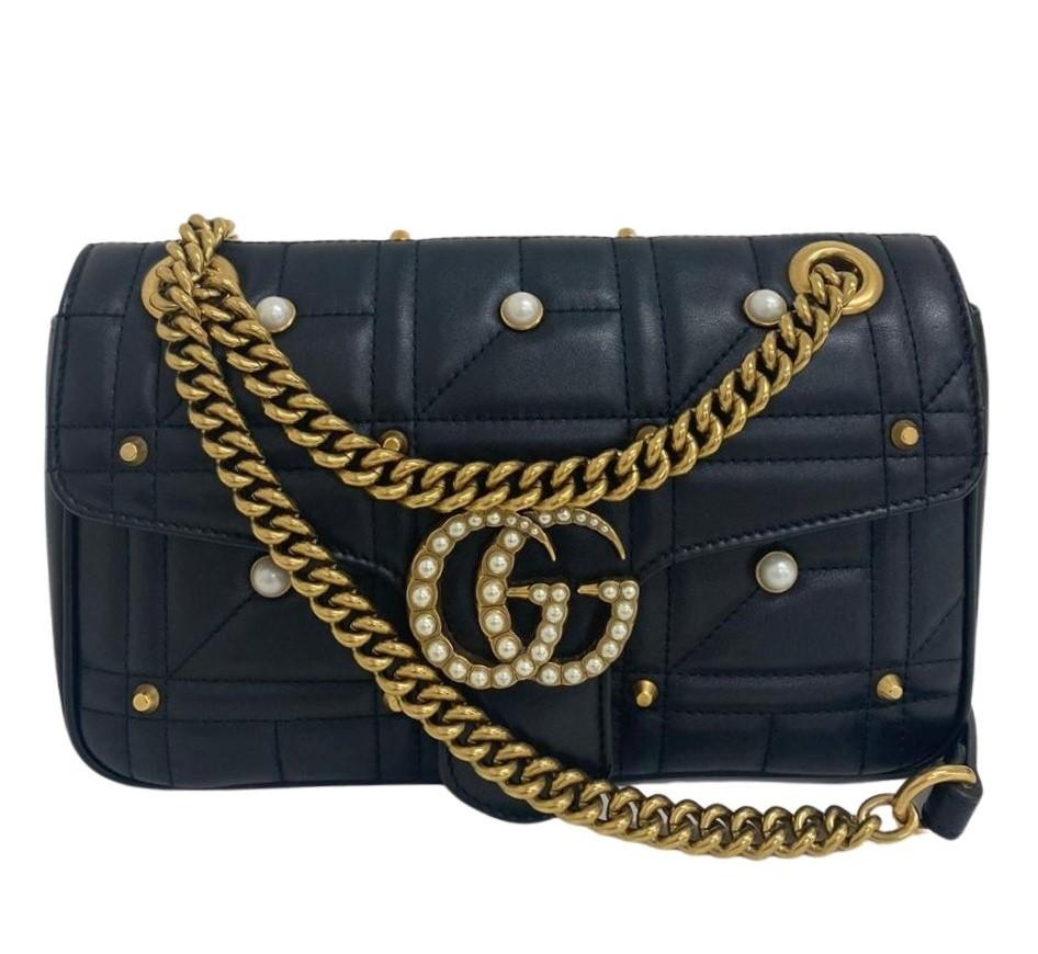Bolsa Gucci Marmont Preta