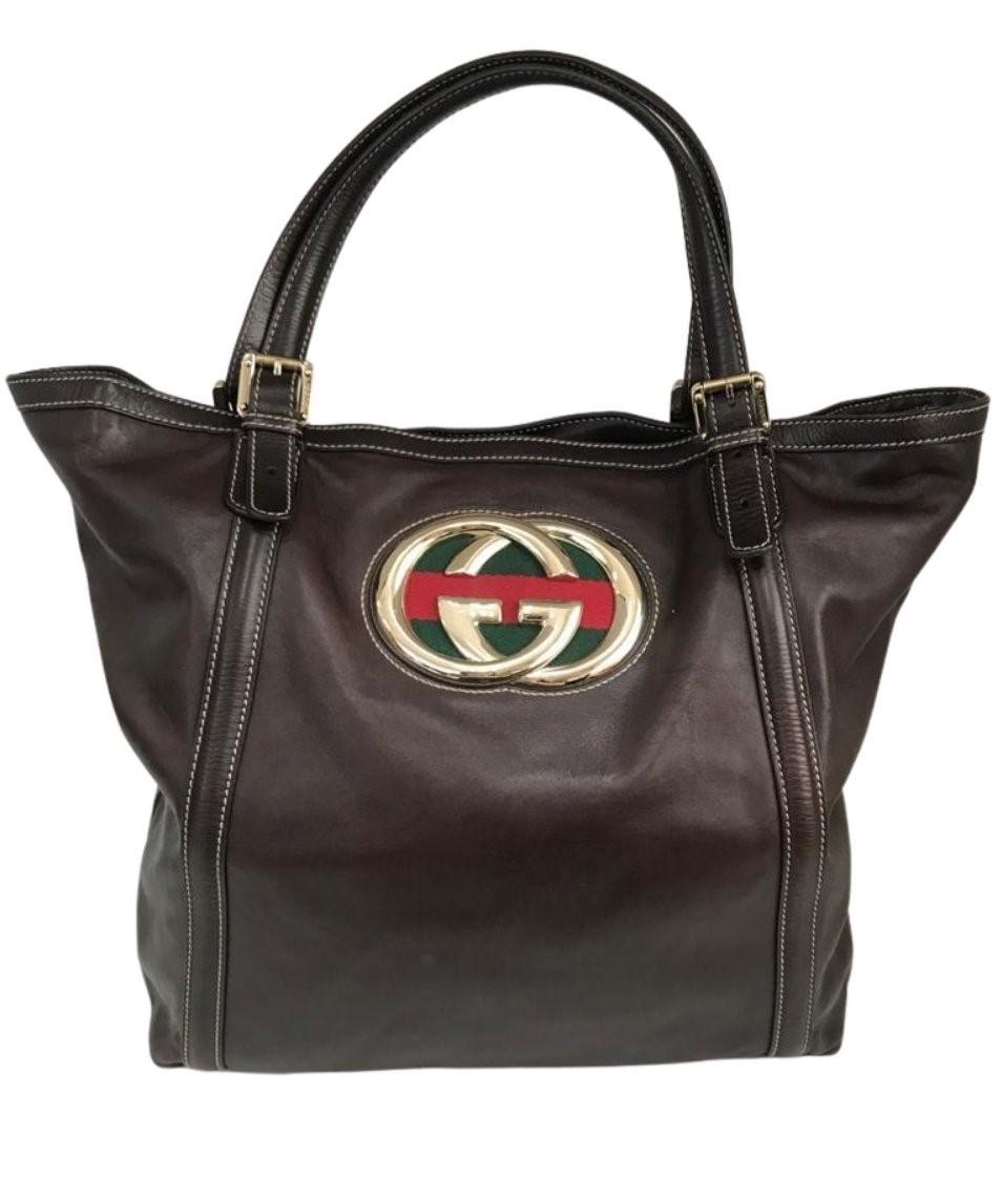 Bolsa Gucci Marrom Escuro