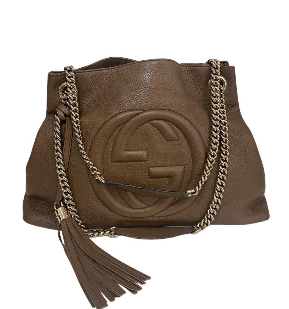 Bolsa Gucci Soho Chain Marrom