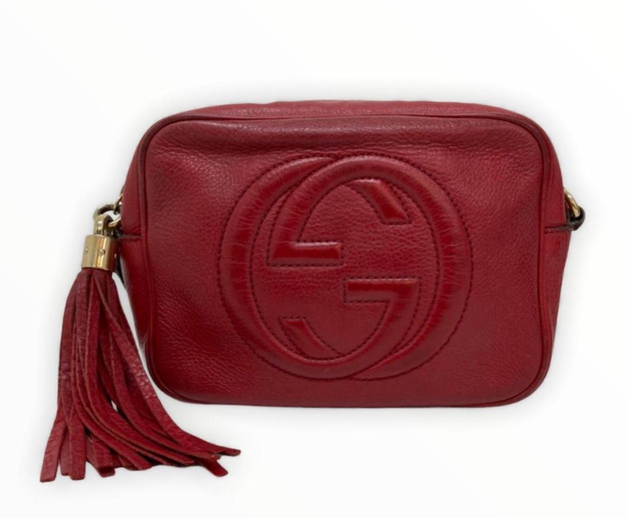 Bolsa Gucci Soho Disco Vermelha