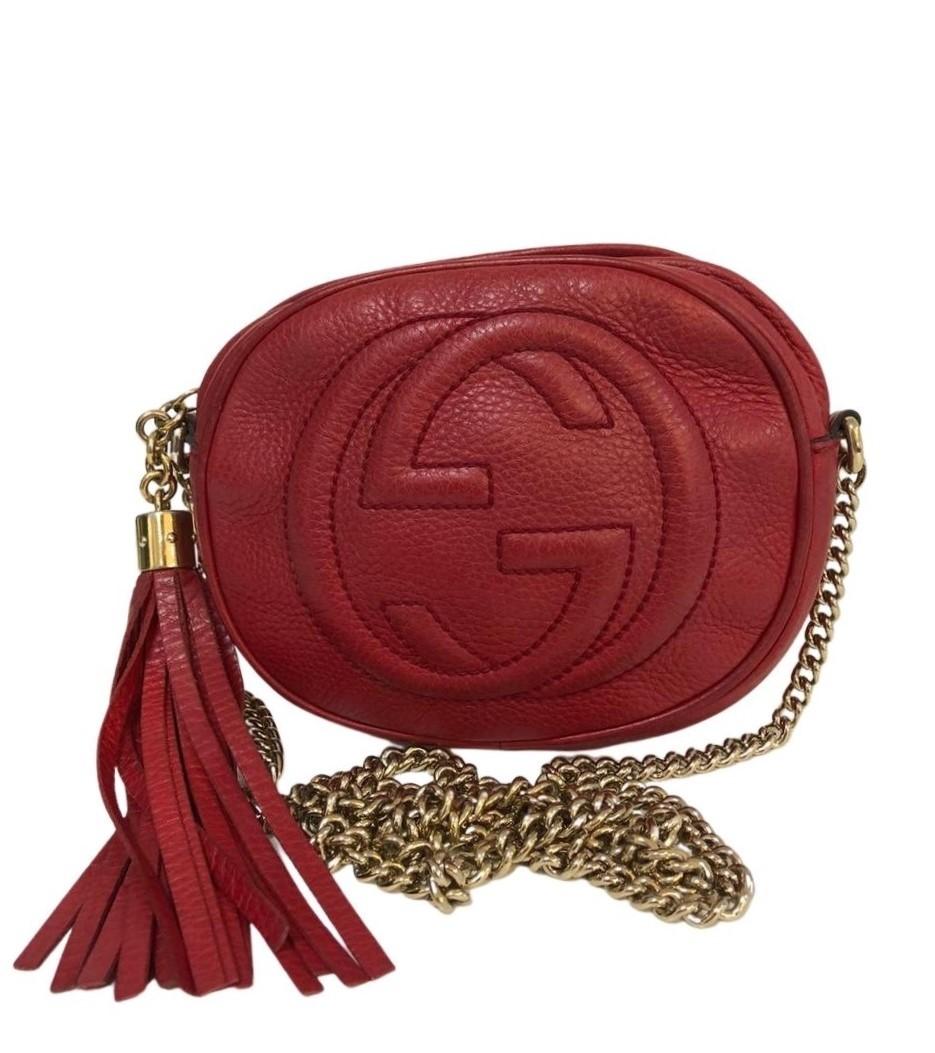 Bolsa Gucci Soho Mini Chain Vermelha