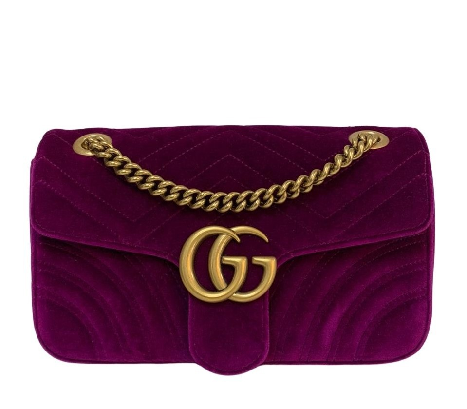 Bolsa Gucci Velvet Marmont Matelassé
