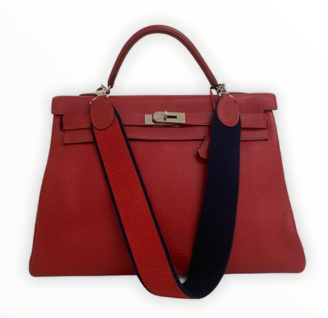 Bolsa Hermès Kelly 40 Vermelha