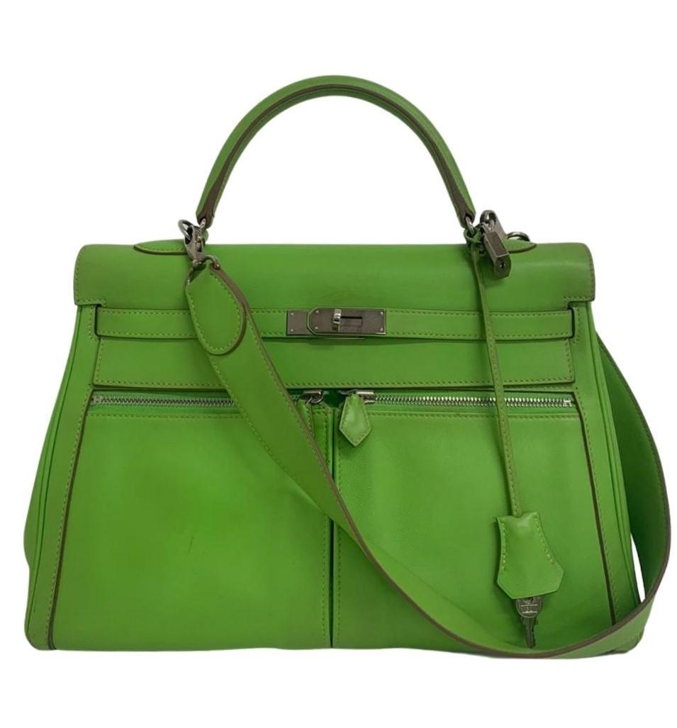Bolsa Hermès Kelly Lakis Verde Neon