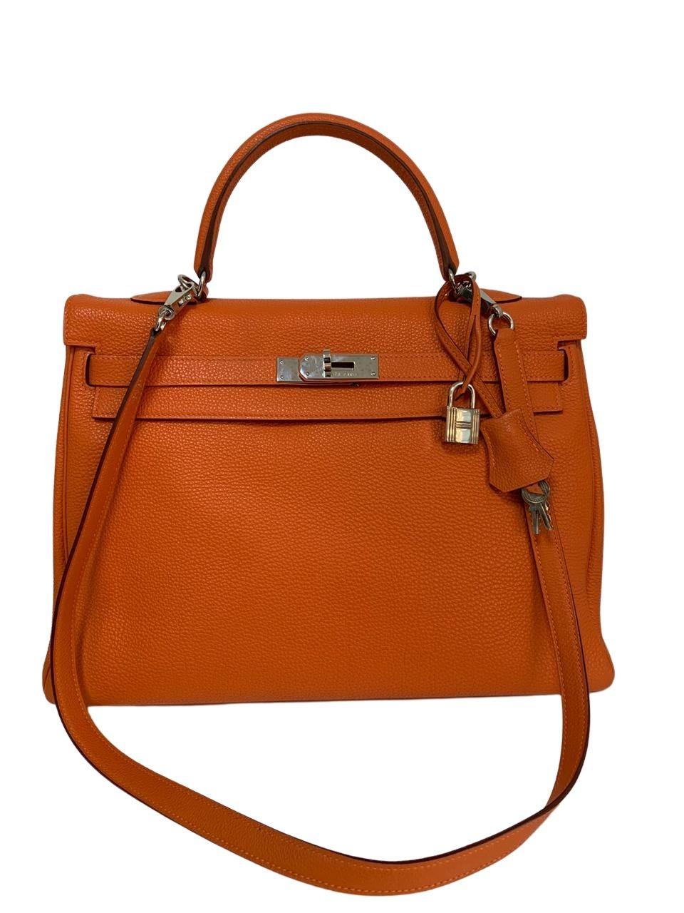 Bolsa Hermès Kelly Laranja