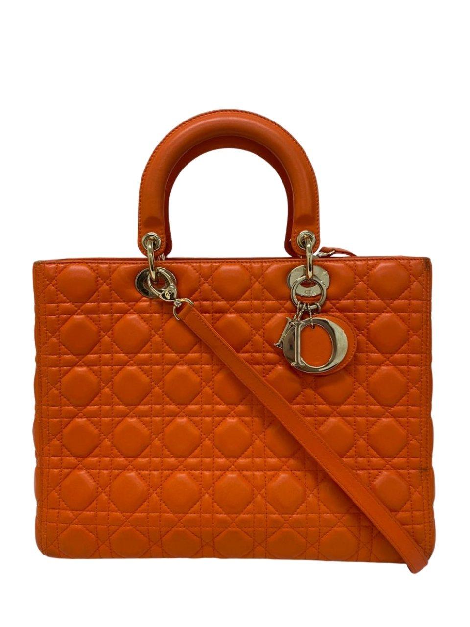 Bolsa Lady Dior Laranja