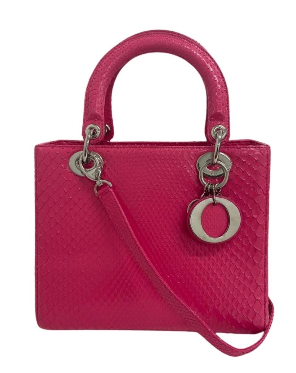 Bolsa Lady Dior Python