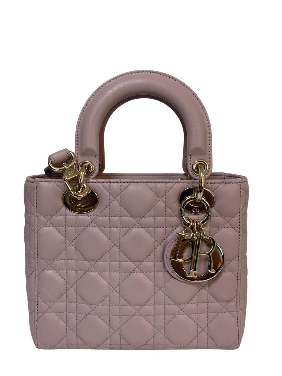 Bolsa Lady Dior Rosa Bebê