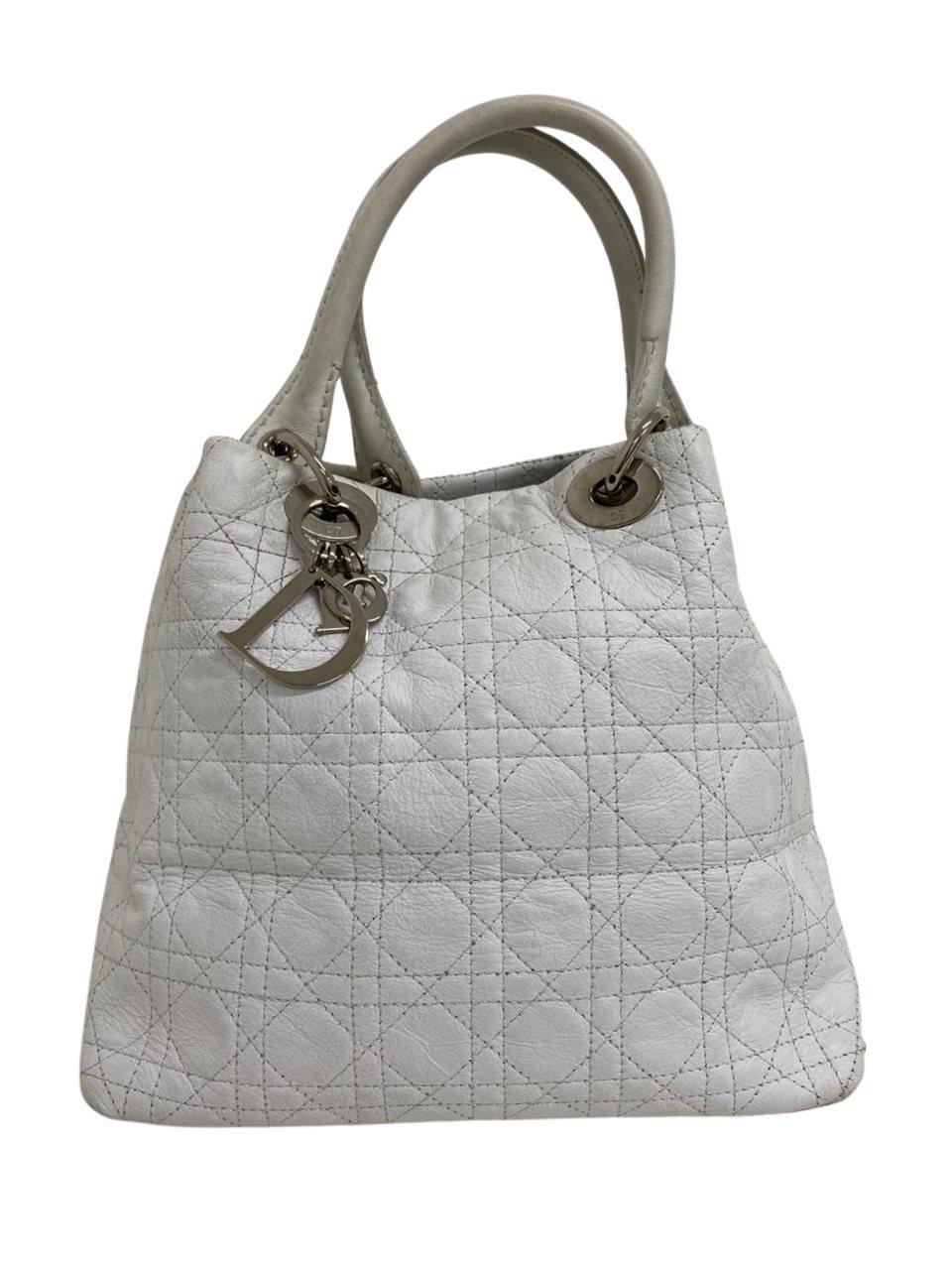 Bolsa Lady Dior Soft Tote Branca