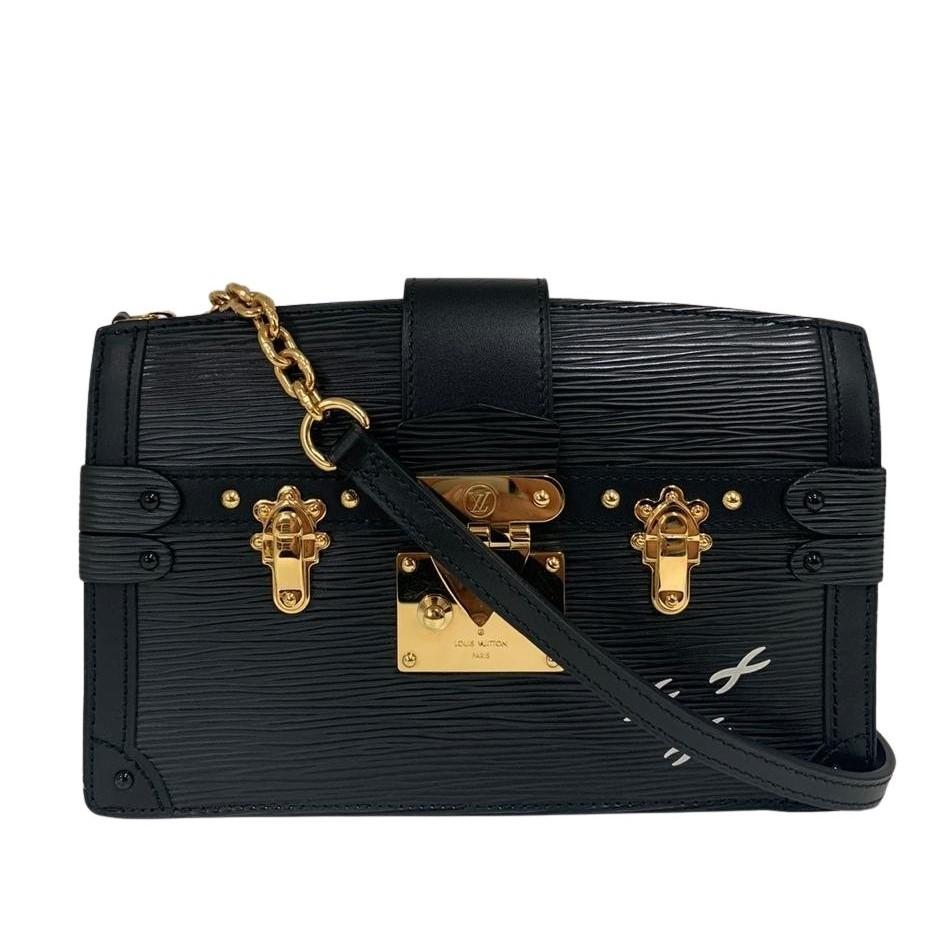 Bolsa Louis Vuitton Clutch Trunk Epi Preta