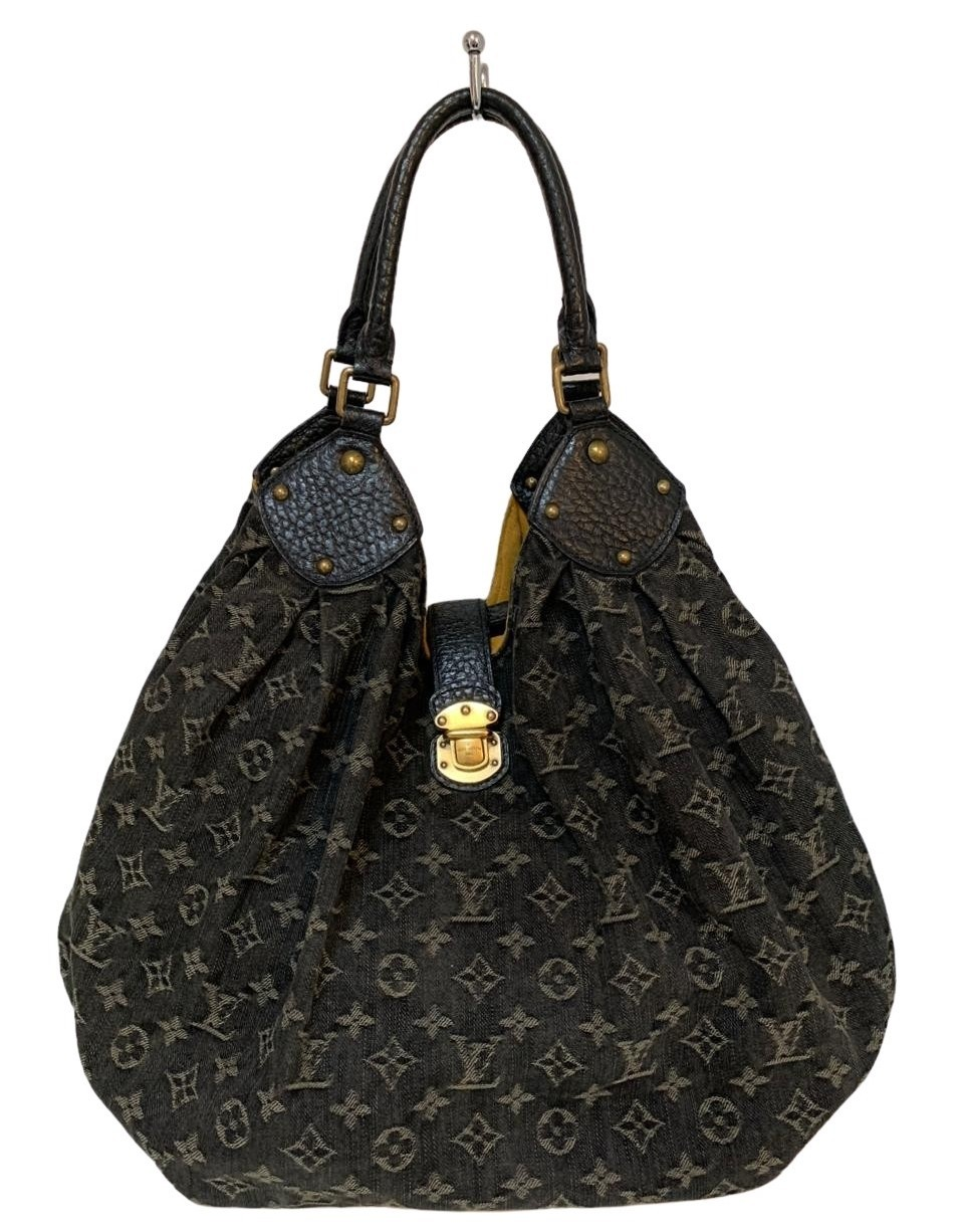 Bolsa Louis Vuitton Denim Large Surya Hobo Monogram Preto