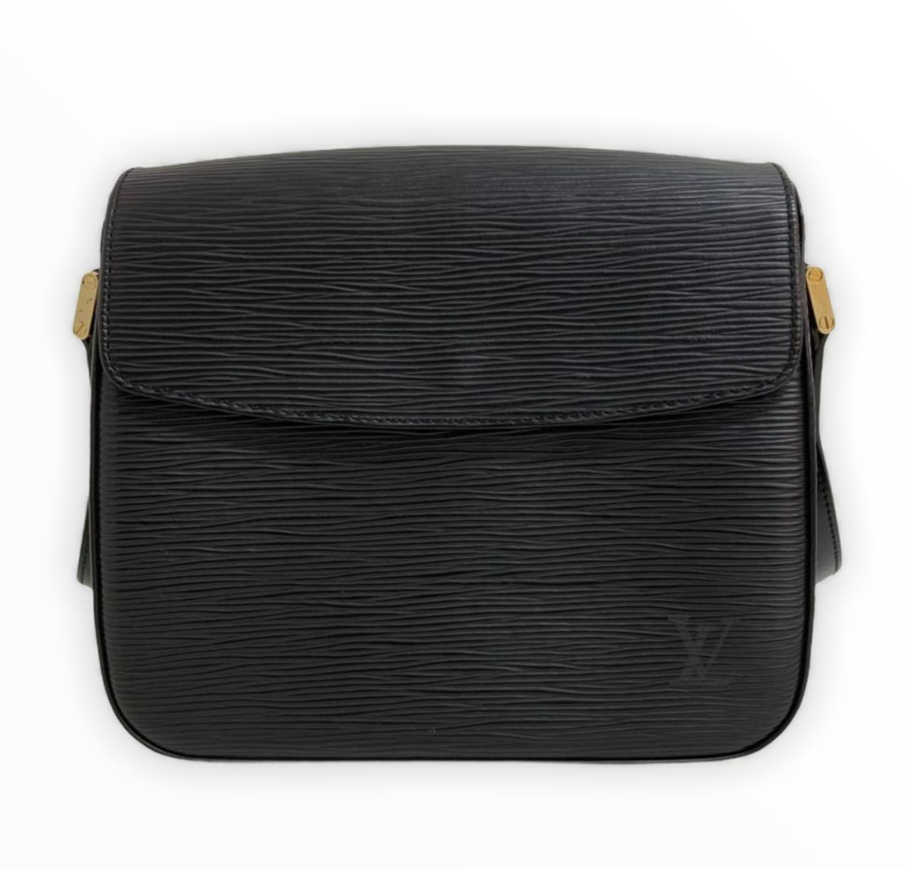 Bolsa Louis Vuitton Epi Preta Shoulder