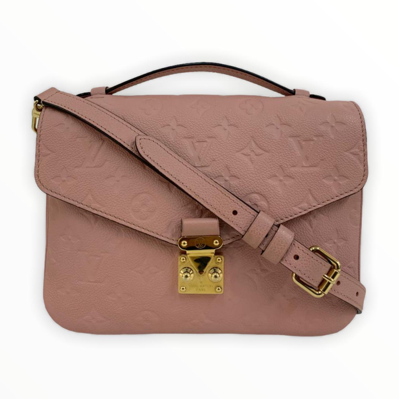 Bolsa Louis Vuitton Pochette Métis Empreinte Rose Poudre