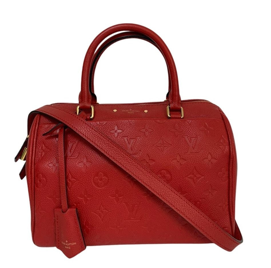 Bolsa Louis Vuitton Speedy Bandoulière Monogram Empreinte Vermelha