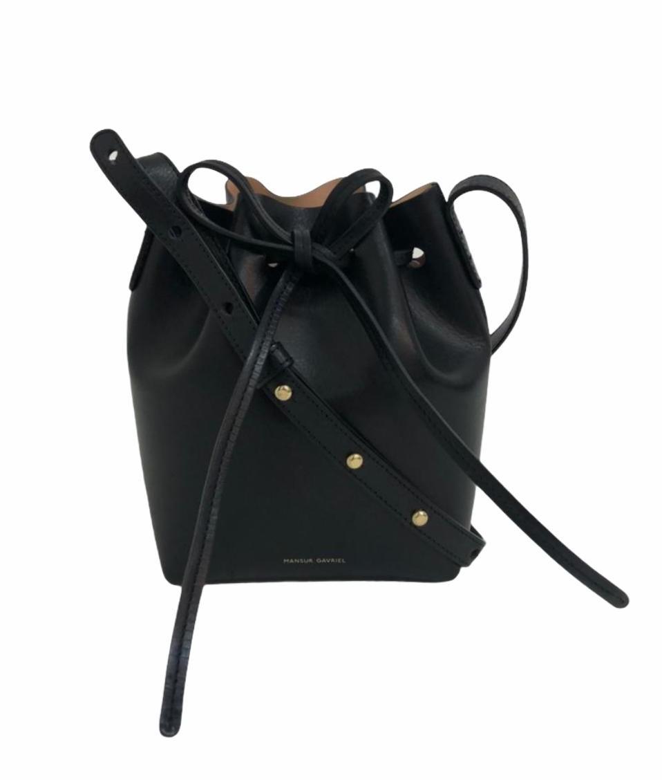 Bolsa Mansur Gavriel Bucket Mini Mini Preta