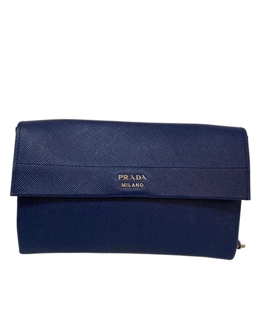 Bolsa Prada Chain Azul