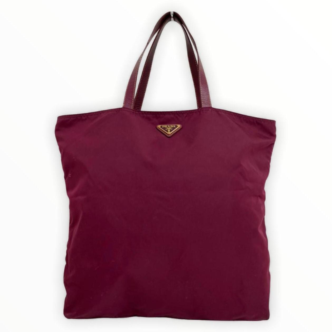 Bolsa Prada Fashion Doll Purple Nylon