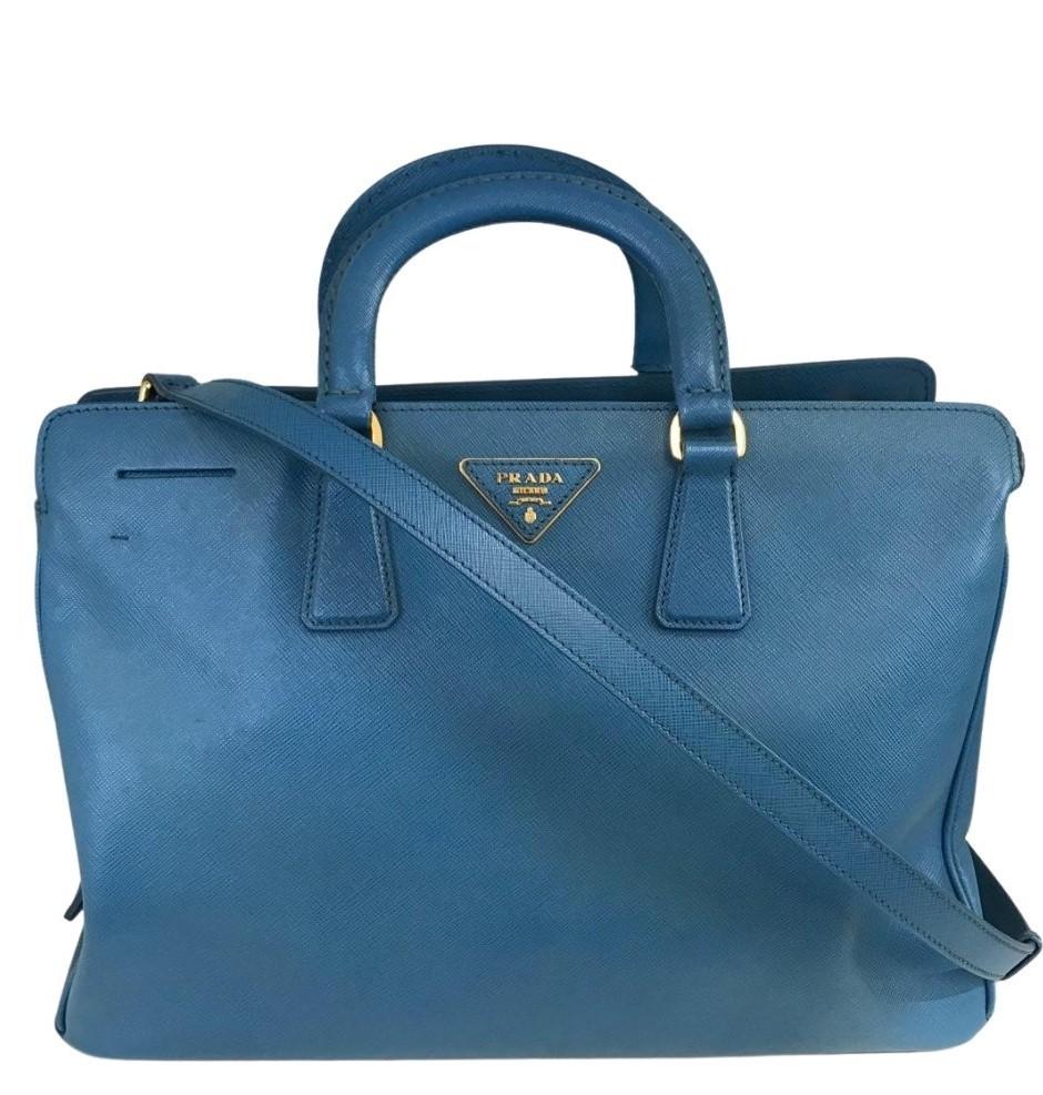 Bolsa Prada Tote Saffiano Azul Claro