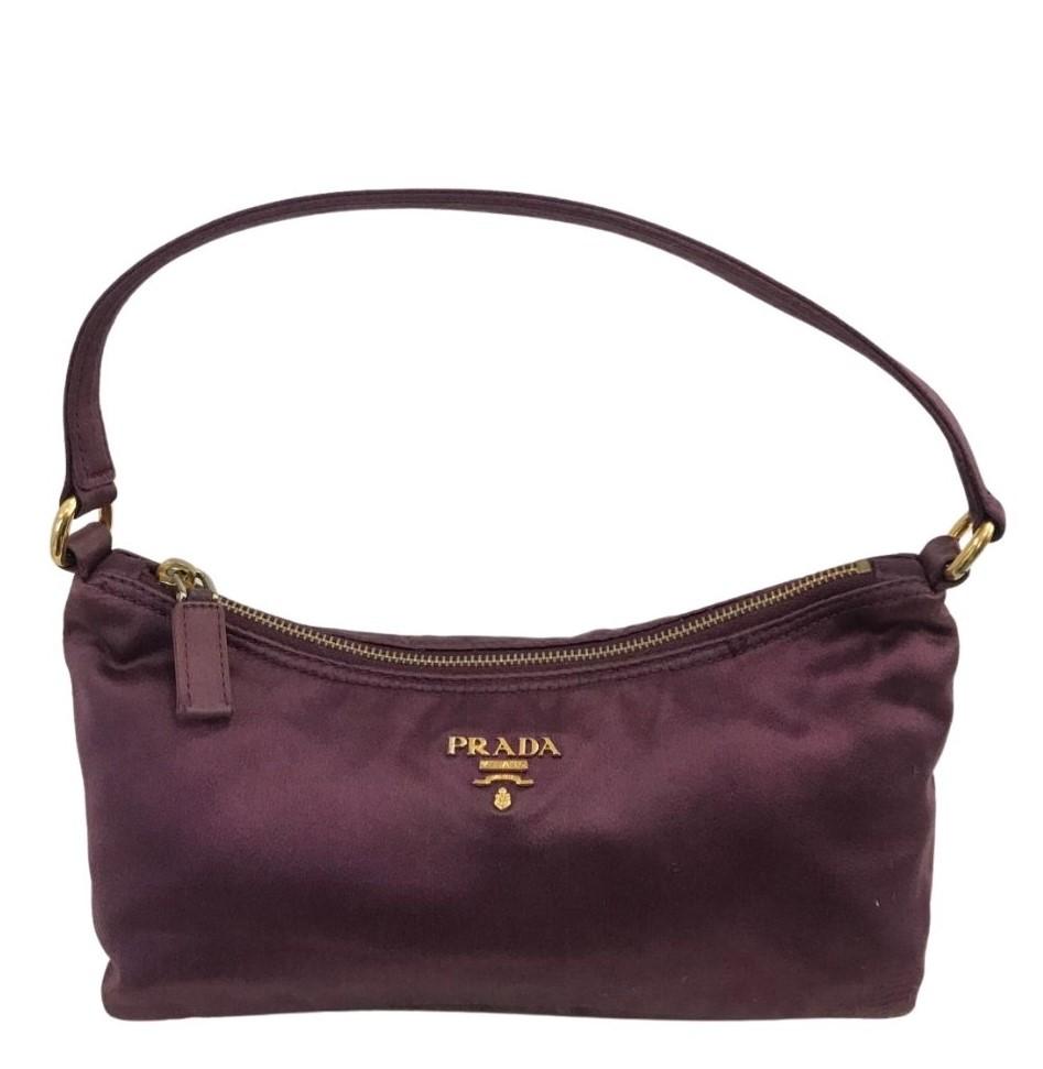 Bolsa Prada Handbag Nylon Roxa