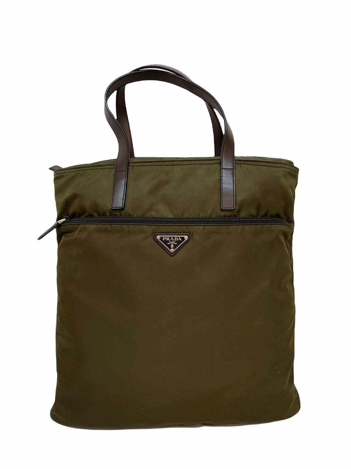 Bolsa Prada Nylon Tote Verde Escuro