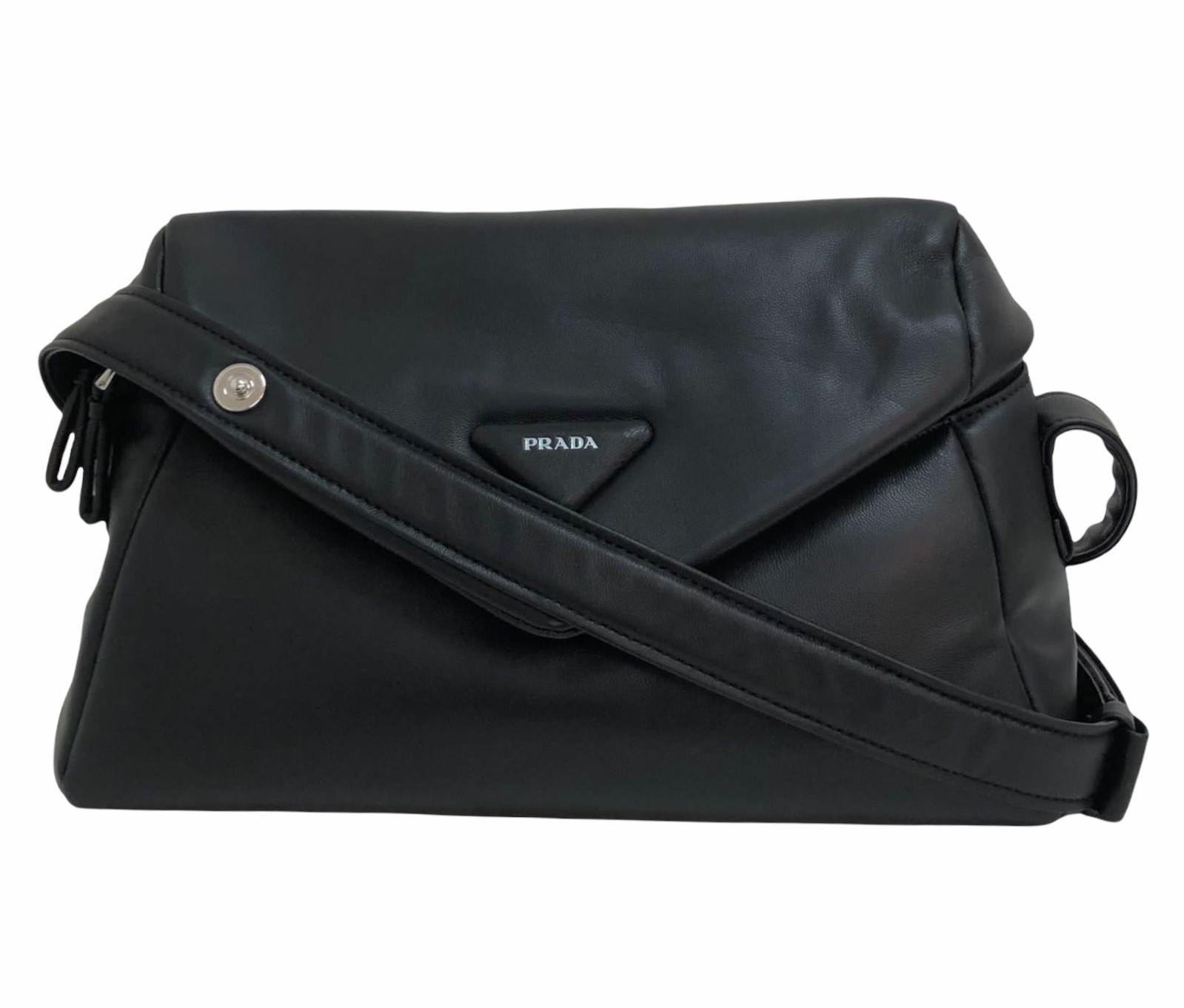 Bolsa Prada Signaux Nappa Leather Preta