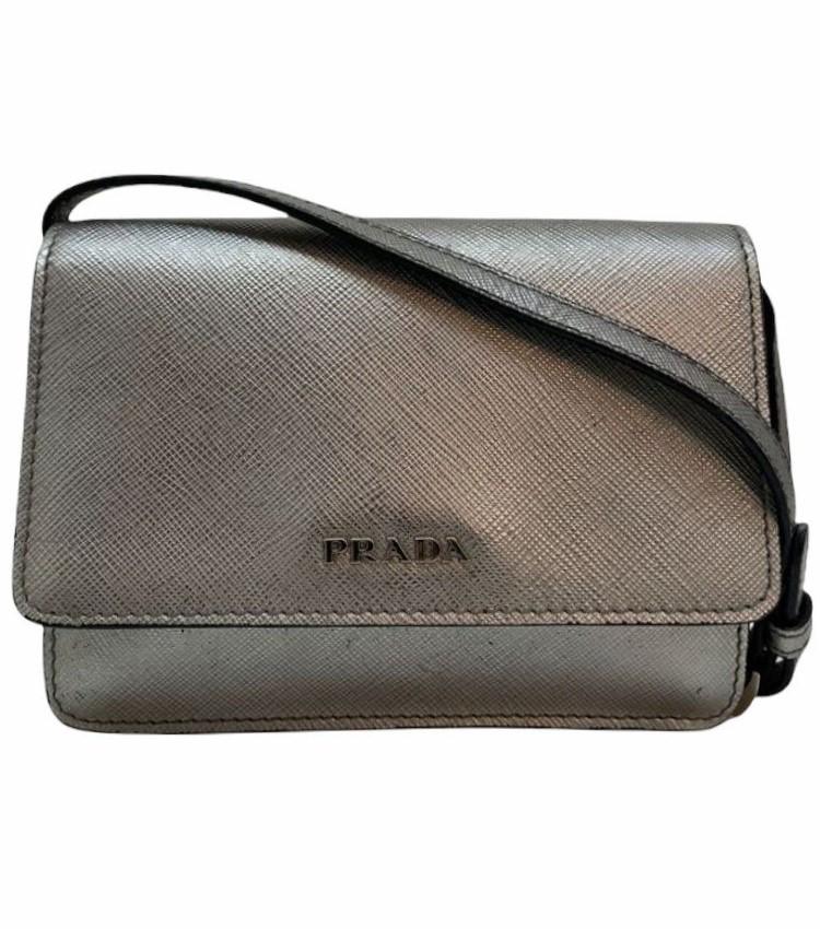 Bolsa Prada Wallet Crossbody Saffiano Metallic